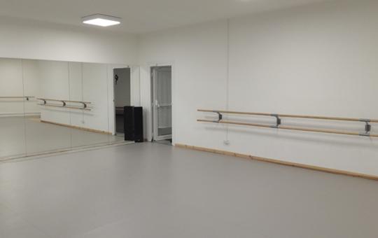 Sala con tappeto danza